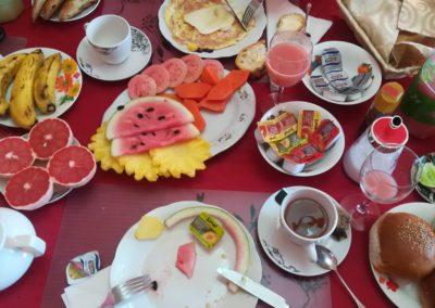 Śniadanie w casas w Hawanie